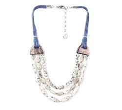Lotus - 3 Row Necklace - Nature Bijoux