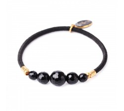 Black Light - Stretch Bracelet - Nature Bijoux