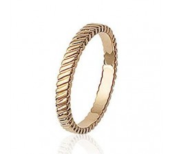 Striated - Gold-Plated Ring