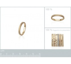 Striated - Gold-Plated Ring-alt