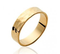Hammered - Gold-Plated Ring