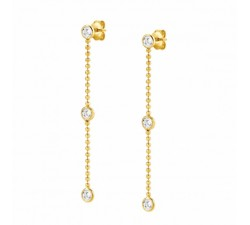 Bella Crystal White Gold-Plated - Earrings - Nomination