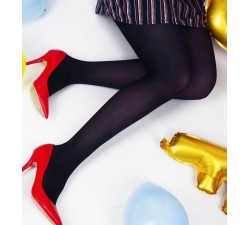 Charlotte - Navy Blue Tights - Jolie Frenchy