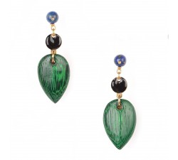 Agapanthe - Leaf Earrings - Nature Bijoux