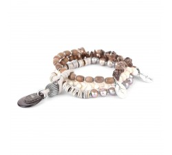 Fifty Shades - Stretch 3-Row Bracelet - Nature Bijoux