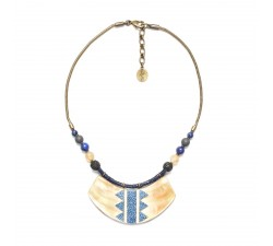 Blue Tribe - Plastron Necklace - Nature Bijoux