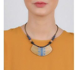 Blue Tribe - Plastron Necklace - Nature Bijoux-alt