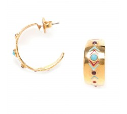 Angele - Hoop Earrings - Franck Herval