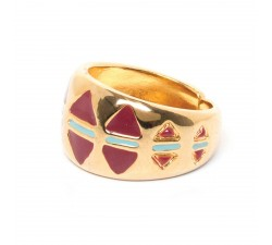 Angele - Enameled Ring - Franck Herval