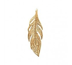 Feather - Gold-Plated Pendant