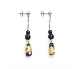 Gabrielle Black - Earrings - Antica Murrina