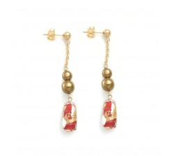 Gabrielle Red - Earrings - Antica Murrina
