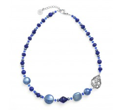 Natural Circle Blue - Necklace - Antica Murrina