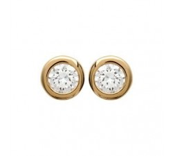 Classic Zirconia - Gold-Plated Earrings