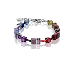 2838 Multicolor Dark Rainbow - Bracelet Cœur de Lion