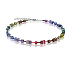 2838 Multicolor Dark Rainbow - Necklace Cœur de Lion