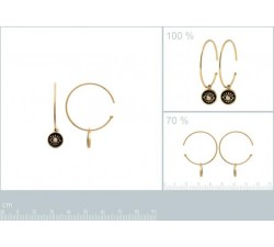 copy of Protective Eye - Gold-Plated Earrings-alt