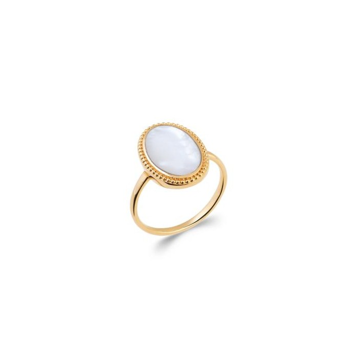 Mother of Pearl - Gold-Plated Ring