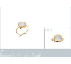 Mother of Pearl - Gold-Plated Ring-alt