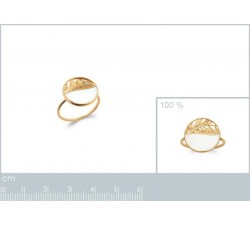 Laurels - Gold-Plated Ring-alt
