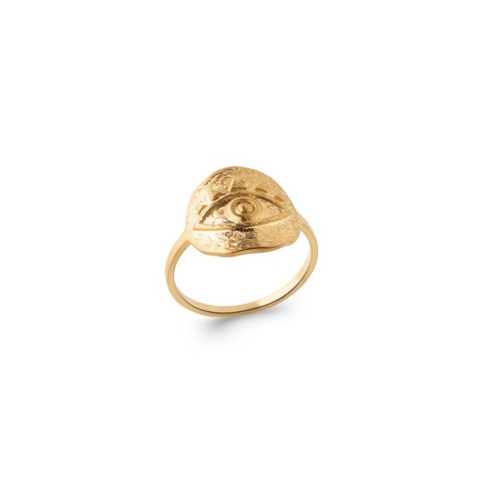 Eye - Gold-Plated Ring