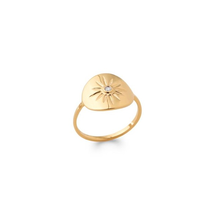 Star - Gold-Plated Ring