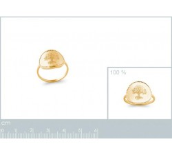 Tree of Life - Gold-Plated Ring-alt