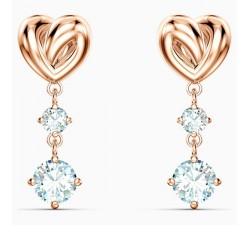 Lifelong Heart - White Rose-Gold - Earrings - Swarovski