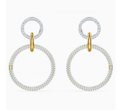 Stone Hoop - White Gold - Earrings - Swarovski