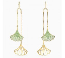 Stunning - Ginkgo - Green Gold - Earrings - Swarovski