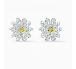 Eternal Flower - Yellow Silver - Earrings - Swarovski
