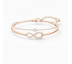 Infinity - White Rose-Gold - Bangle - Swarovski