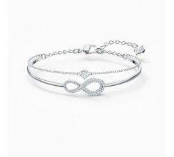 Infinity - White Silver - Bangle - Swarovski