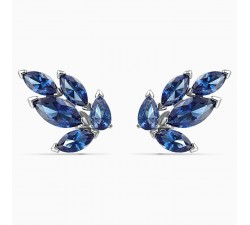 Louison - Blue Silver - Earrings - Swarovski