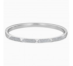 Tactic - White Silver - Bangle - Swarovski
