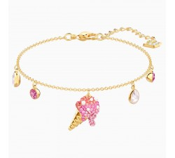 No Regrets - Ice Cream Pink - Bracelet - Swarovski