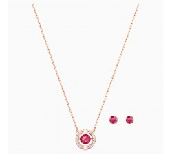 Sparkling Dance Round - Red Rose-Gold - Set - Swarovski