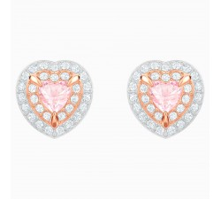 One - Pink Rose-Gold - Earrings - Swarovski