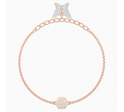 Remix - Lilia - White Rose-Gold - Bracelet - Swarovski