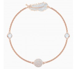 Remix - Feather - White Rose-Gold - Bracelet -...