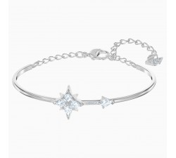 Symbolic - Star - White Silver - Bangle - Swarovski
