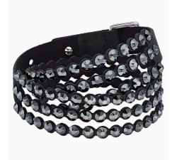 Power - Black - Bracelet - Swarovski