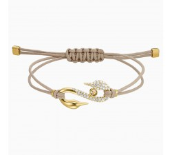 Power Hook - Beige - Bracelet - Swarovski