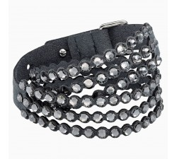 Power - Dark Grey - Bracelet - Swarovski