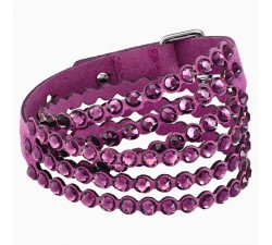 Power - Purple - Bracelet - Swarovski