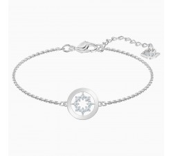 Further Circle - White Silver - Bracelet - Swarovski