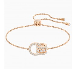 Further - White Rose-Gold - Bracelet - Swarovski