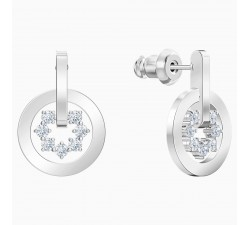 Further - White Silver - Earrings - Swarovski