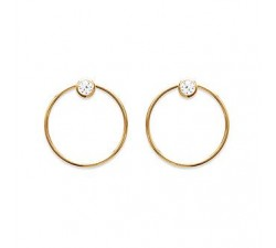 Circle - Earrings - Gold-Plated