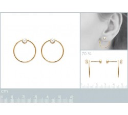 Circle - Earrings - Gold-Plated-alt